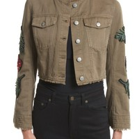 Cinq à Sept Halina Embellished Crop Jacket | Nordstrom