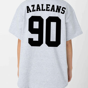 Iggy Azalea Unisex Silk Screen AZALEANS American Apparel Baseball Shirt