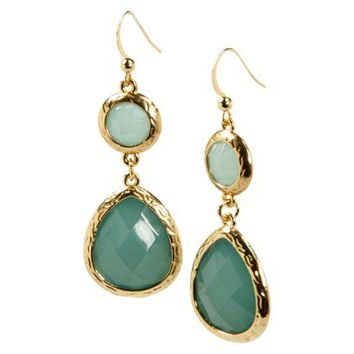 Stone Hook Earrings - Green