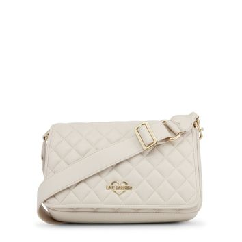 New! Love Moschino Cream Quilted Bag