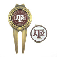 Texas A&M Aggies Hat Clip & Divot Tool with Golf Ball Marker Combo