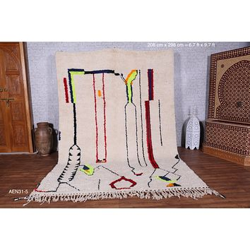 Large azilal rug, 6.7 ft x 9.7 ft