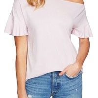 1.STATE Ruffle Cutout Tee | Nordstrom