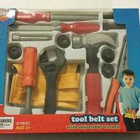 20 Piece Boys Tool Belt Play Set Toy