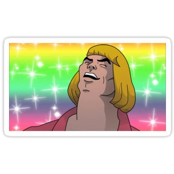 'HE MAN - HEYAYEAYE HIGH RESOLUTION AND DETAIL, VIRAL MEME, MEME, DANK MEME, AND I SAID WHAT'S GOING ON' Sticker by viralmeme