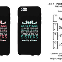 God Made Us Best Friends Black Phone Case for Apple iPhone, Samsung Galaxy S, HTC One M8, LG G3