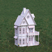 Gingerbread Victorian Doll house kit by JourneyProductions on Etsy