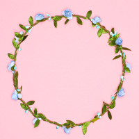 Hawaiian Blue Floral Crown