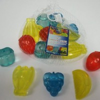 Fruit Shaped Reusable Plastic Ice Cubes - Colors May Vary