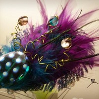 Fancy Peacock Purple and Teal Feather by SoleProprietorship