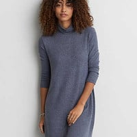 AEO Soft & Sexy Plush Turtleneck Dress, Light Blue
