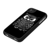 Black Owl iPhone 4 Case Cover by SPECK from Zazzle
