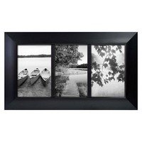 Room Essentials® 3 Opening Picture Frame - Black 4x6