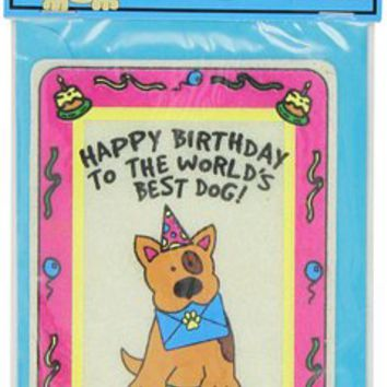 Crunchkins Edible Crunch Card, Birthday, World's Best Dog