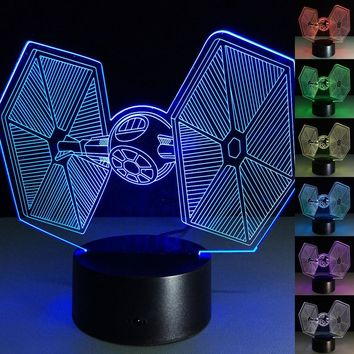 Novelty Star Trek Night Light 3D Lamp Luminaria Gadget LED Lighting Legoe Star Wars Home Decor Bedside Nightlight for Child Boys