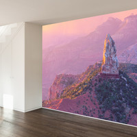 Paul Moore's Sunset Over Mt. Hayden Mural wall decal