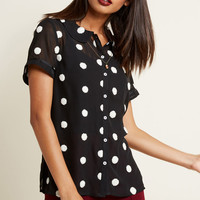 Let's Do Lovely Button-Up Top in Noir Puff