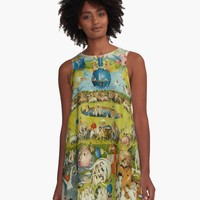 'Garden of Earthly Delights (Ecclesia's Paradise)' A-Line Dress by IMPACTEES