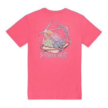Sweet Succulents in Pink Lemonade by The Southern Shirt Co..