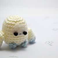 crocheted yeti plush amigurumi toy