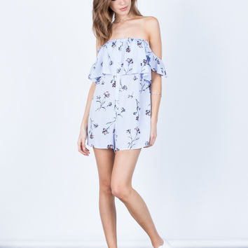 Buttoned Up Floral Romper