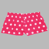 Fuschia Hot Pink Polka Dot Itty Bitty Boxers.  Cotton Flannel. Available in Adult or Youth.