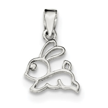 Sterling Silver Polished Bunny Pendant QC8606