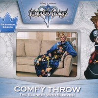 Disney Kingdom Hearts Keyed Up Comfy Throw Blanket with Sleeves