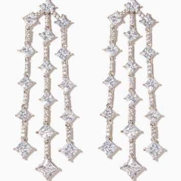 Divine Pavé Chandelier Earrings | Charming Charlie