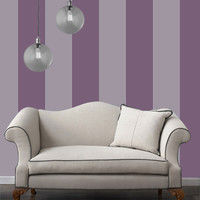 Temporary Wallpaper - Striped - Purple