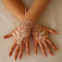 FREE SHİP Wedding Gloves,Pink Lace Gloves , The Same Lace Bridal Gloves,Sandals,Economic Bride Pacgace,Wedding Set