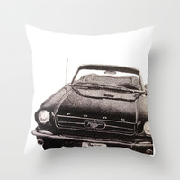 Mustang Throw Pillow by Lindsay Carter | Society6