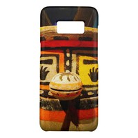 Cute, funny, silly, carved wood kachina face photo Case-Mate samsung galaxy s8 case