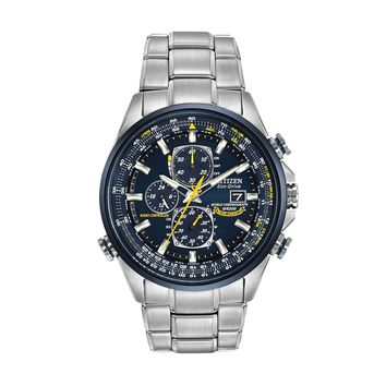 Citizen Eco-Drive Men's Blue Angels World A-T Stainless Steel Atomic Flight Watch - AT8020-54L