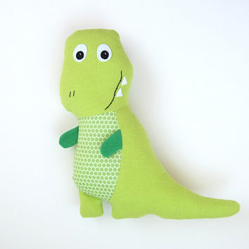 Tony T-Rex Pattern with Baby Dinosaur Set, Tracy TRex Stuffed Toy Tutorial DIY Friendly Dinosaur PDF Sewing Pattern