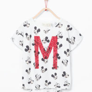SEQUINNED DISNEY T-SHIRT