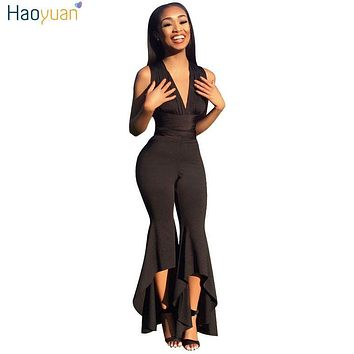 Deep-V Bodycon Sexy Jumpsuit