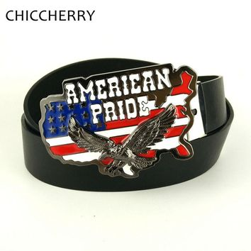 American Flag Eagle Belt Buckle Country Western Cowboy