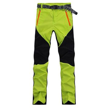 Outdoor Quick-drying Summer Sport Camping Pants Men Women Waterproof Windproof Breathable Mountain Climbing Softshell Pants