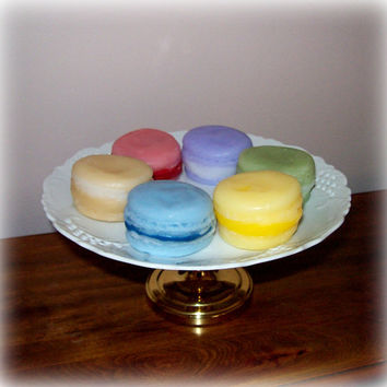 French Macaron Cookies 6 Pcs Fake Faux Staging Home Decor Photo Prop