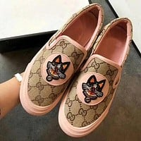 GUCCI Fashion Sneakers Lazy Casual Shoes Pedal Shoes F0343-1 pink