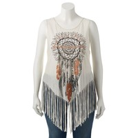 S.o. R.a.d. Collection by Awesomeness TV Graphic Fringe Tank Top - Juniors' Plus, Size: