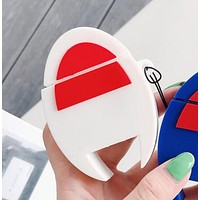 Champion Comme Des Garçon Play Fashion Silicone iPhone Airpods Headphone Case Wireless Bluetooth Headphone Protector Case(No Headphones) White