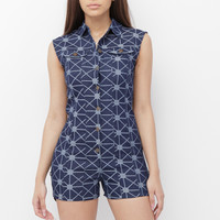 KAII DENIM ROMPER