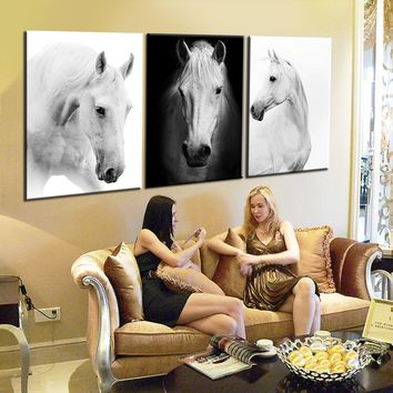 Oil Painting Canvas Wall Art Canvas Prints Horse Painting Decorative Wall Picture Modular Canvas Painting Living Room Home Decor