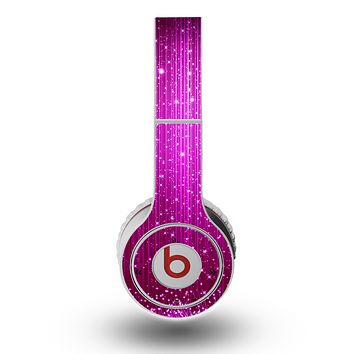 The Abstract Pink Neon Rain Curtain Skin for the Original Beats by Dre Wireless Headphones
