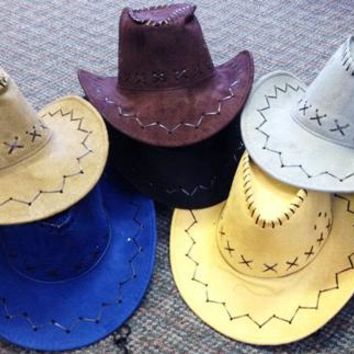cowboy hats suede pu leather assorted western hats Case of 24