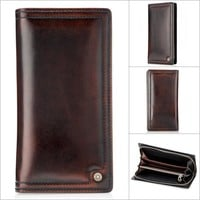 Men Leather Bags Handcrafts Vintage Wallet [9026567171]