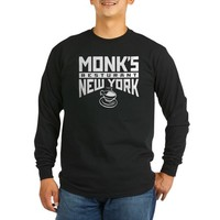 Monk's Resturant Long Sleeve Dark T-Shirt