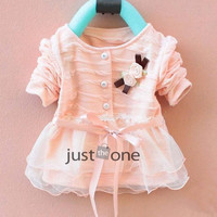 2015 Fashion Autumn Winter Long Sleeve Flower lace Kids Autumn Winter Knit Clothes = 1958065476